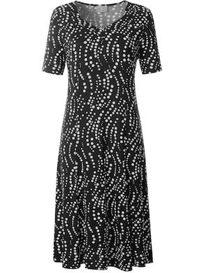 Fair Lady Jersey-Kleid - schwarz-bedruckt