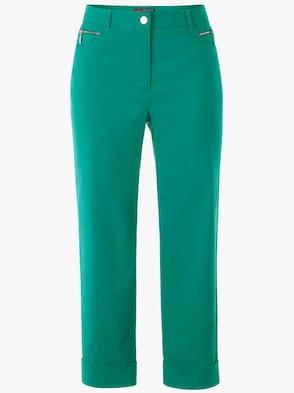 Hose wadenlang - smaragdgrün