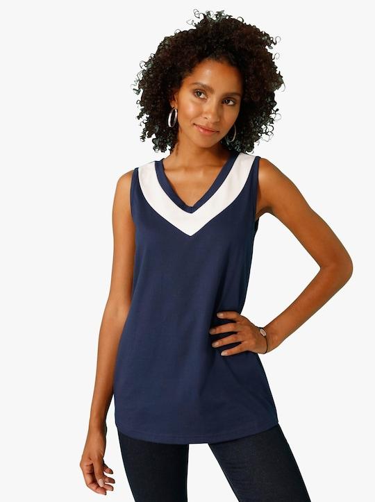 Tričkový top - námornícka modrá