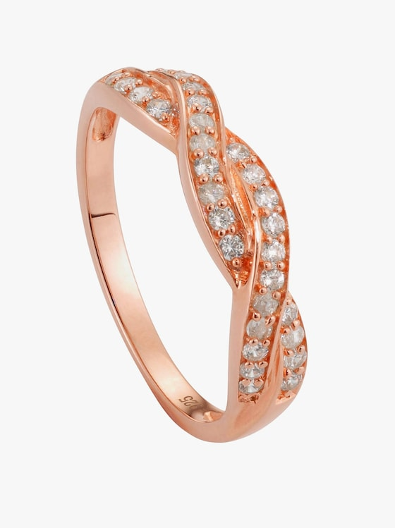 Ring - Silber rosé vergoldet 925