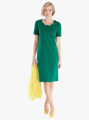 Jersey-Kleid - grün