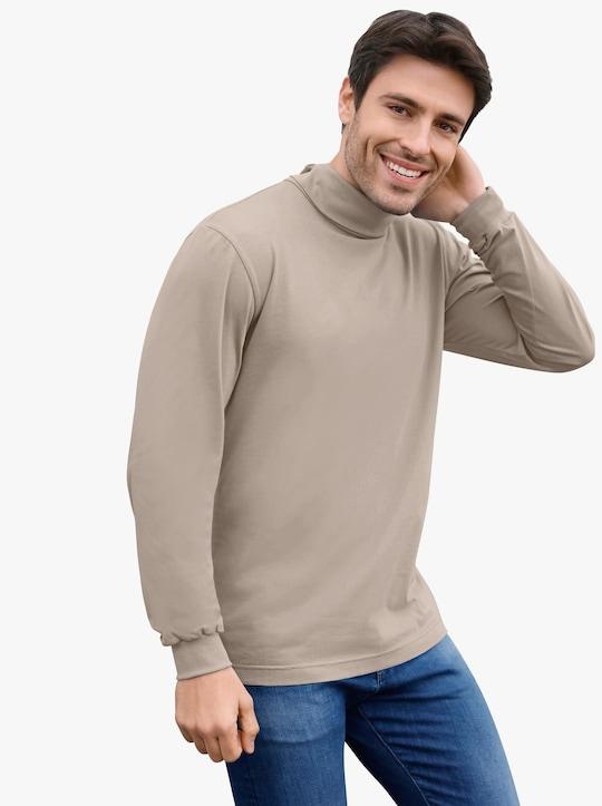 Tričko s rolákovým límcem - béžová