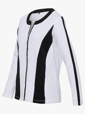 Shirtblazer - schwarz-weiß