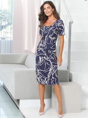 Fair Lady Jersey-Kleid - marine-bedruckt