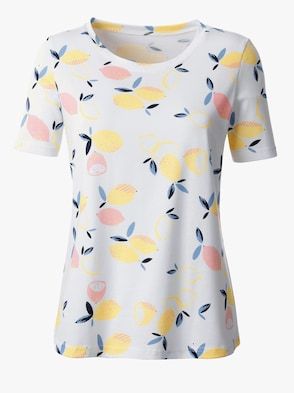 Shirt - ecru-gelb-gemustert