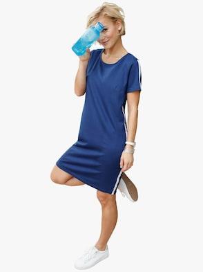 Žerzejové šaty - královská modrá