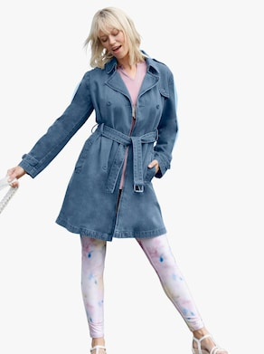 Jeans-Trenchcoat - blue-bleached