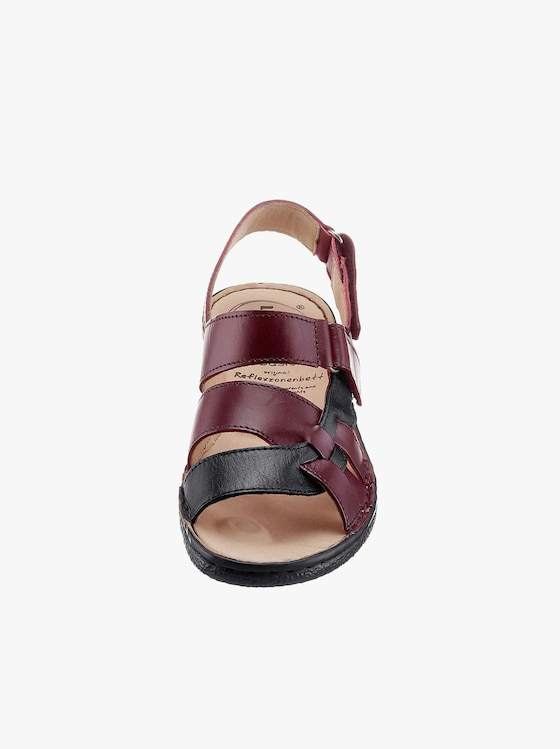 Sandalette - schwarz-bordeaux