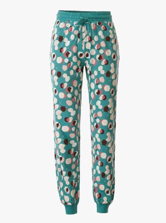 wäschepur Schlafanzug-Hose - smaragd-bedruckt