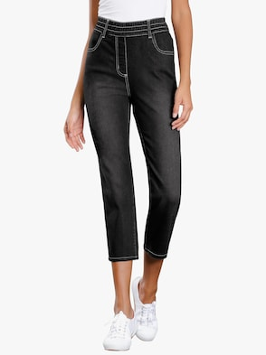 3/4-Jeans - black-denim
