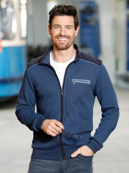 Marco Donati Sweatjacke - jeansblau