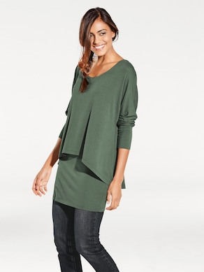 Linea Tesini Rundhals-Shirt - salbei