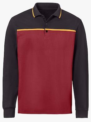 Poloshirt - schwarz-kirsche