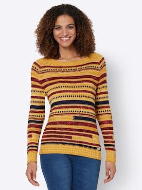 Pullover - ocker-gemustert