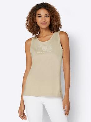 Shirttop - sand-bedruckt