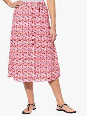 Navliekacia sukňa - Jahodová potlač
