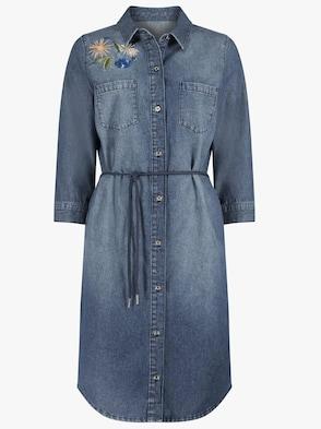 Jeans-Kleid - jeansblau