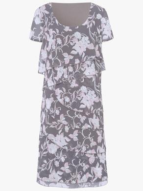 Kleid - anthrazit-bedruckt