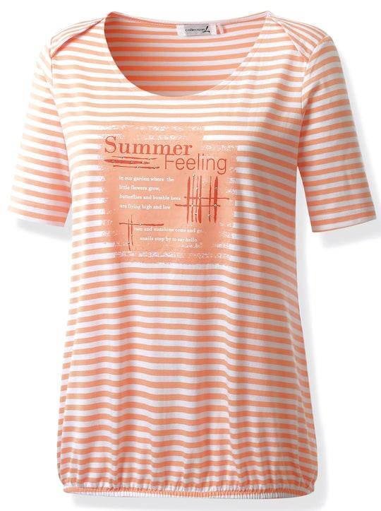 Collection L Shirt - lachs-weiß-gestreift