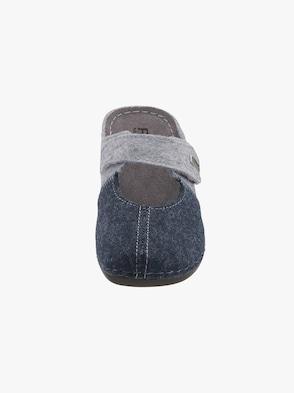 Pantolette - blau-grau