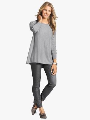 Pullover - grijs gemêleerd