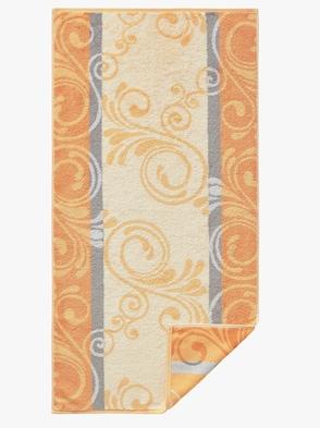 Handtuch - apricot-gemustert