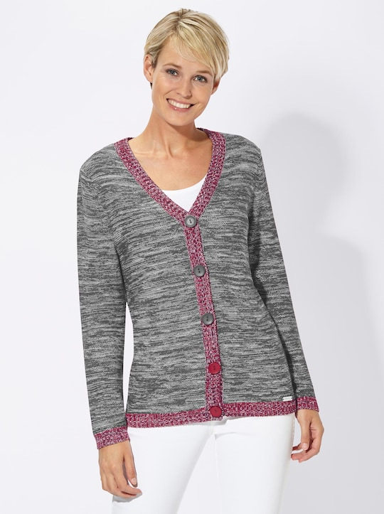 Collection L Strickjacke - grau-meliert