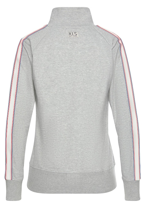H.I.S Sweatjacke - grey-melange