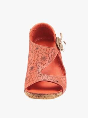 Sandalette - korallenrot