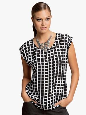 Bluse - schwarz-weiß