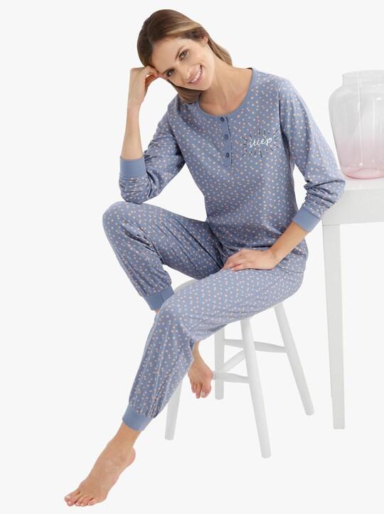wäschepur Schlafanzug - taubenblau