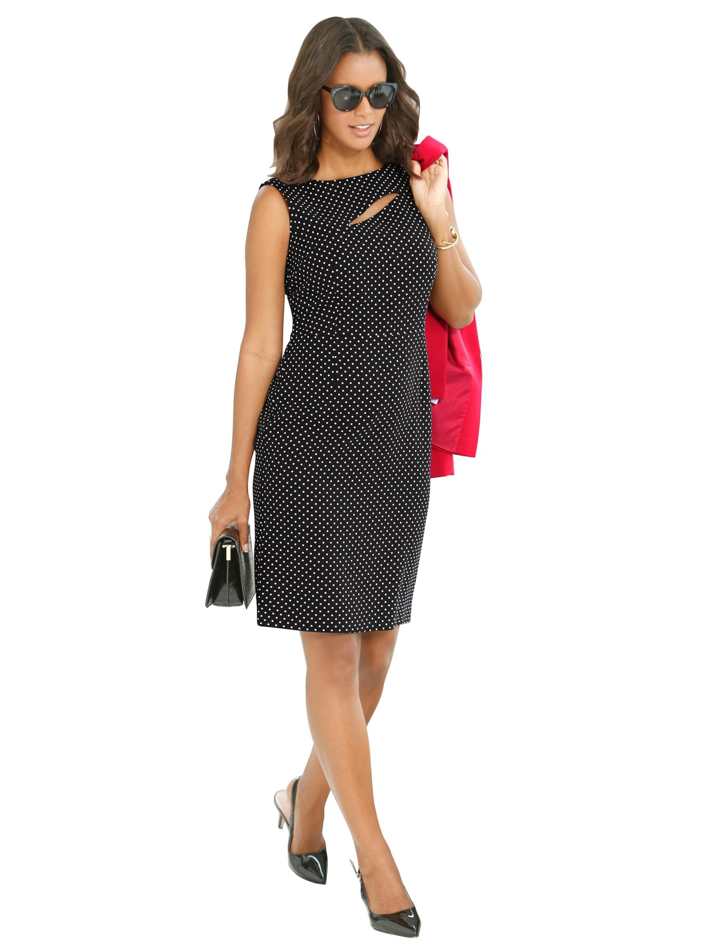 witt weiden - Damen Kleid schwarz-ecru-getupft