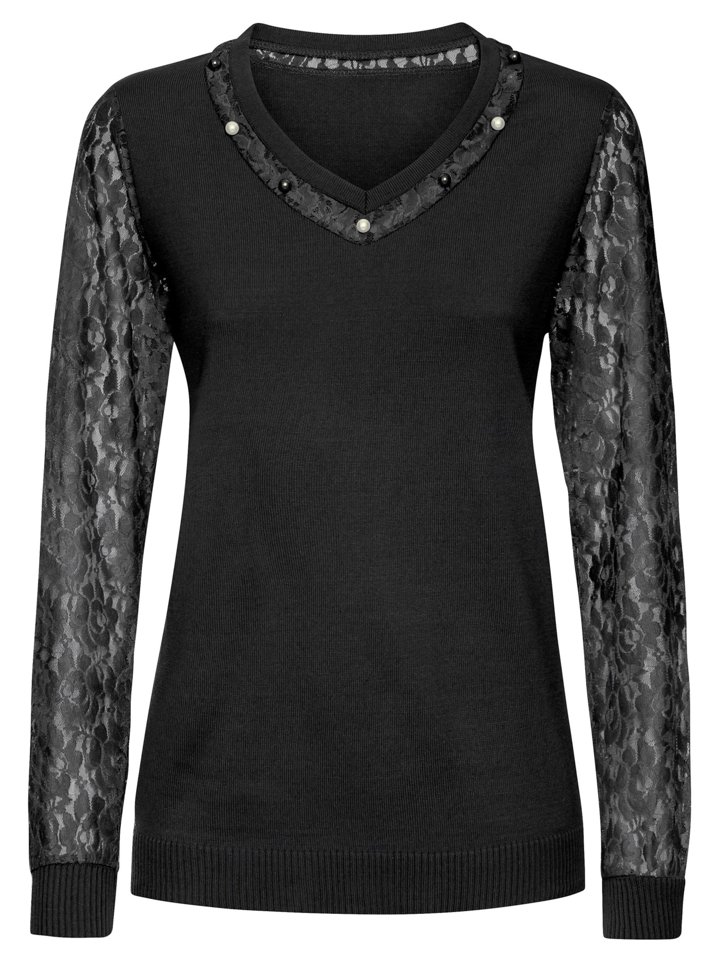 witt weiden -  Damen Spitzen-Pullover schwarz