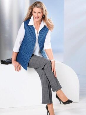 Steppweste - jeansblau