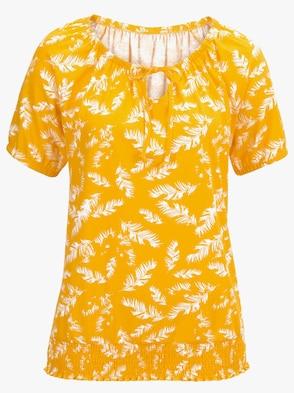 Shirt - gelb-gemustert