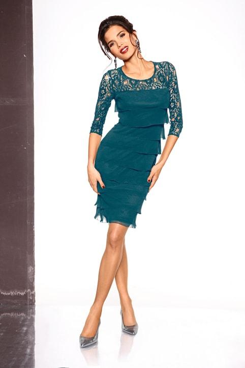 Patrizia Dini Spitzen-Kleid - dunkelgrün