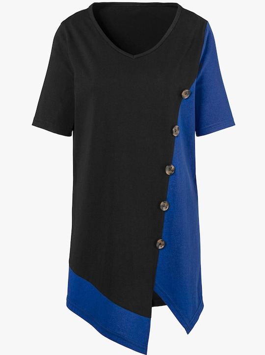 Shirt - koningsblauw/zwart