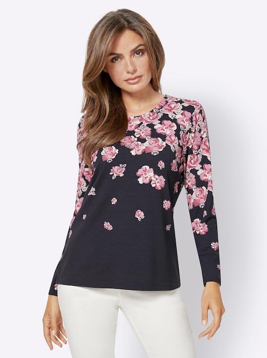 Fair Lady Shirt - marine-bedruckt