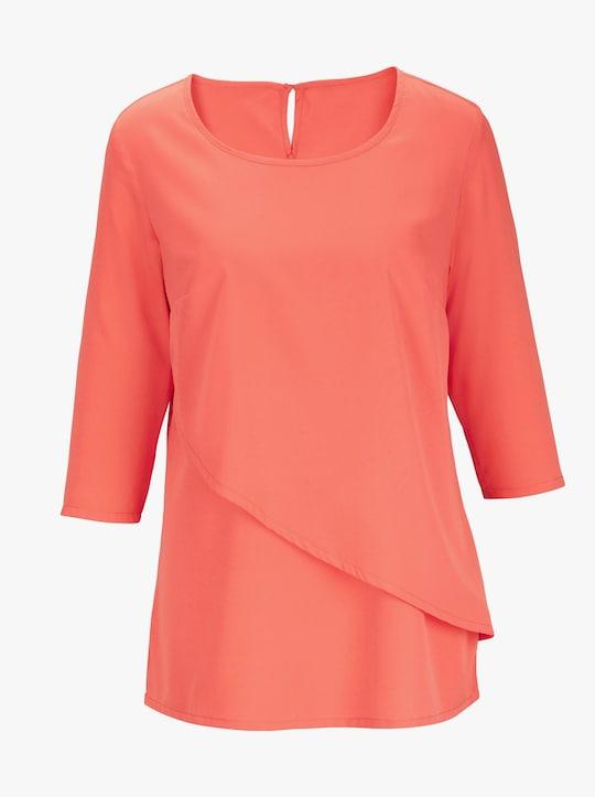 Comfortabele blouse - koraalrood