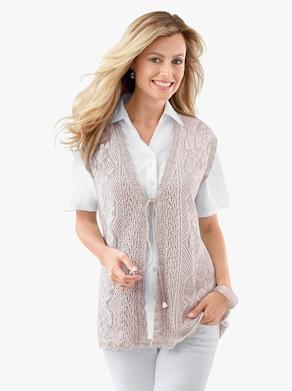 Pletená vesta - béžová