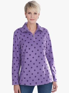 Fleece-Shirt - flieder
