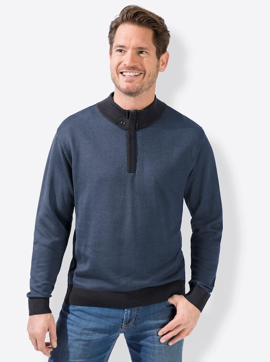 Marco Donati Pullover - jeansblau