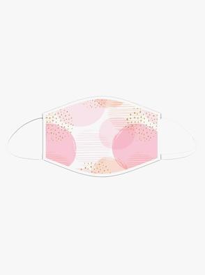 Mund-Nasen-Maske - rosé-bedruckt