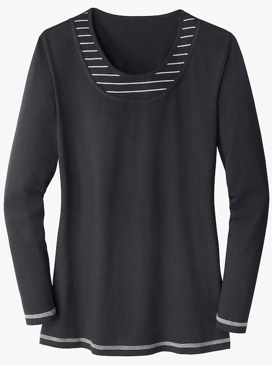 Shirt - zwart/grijs