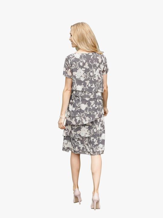 Klänning - antracit, tryckt