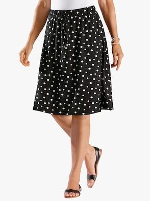 Sukně - černá-puntík