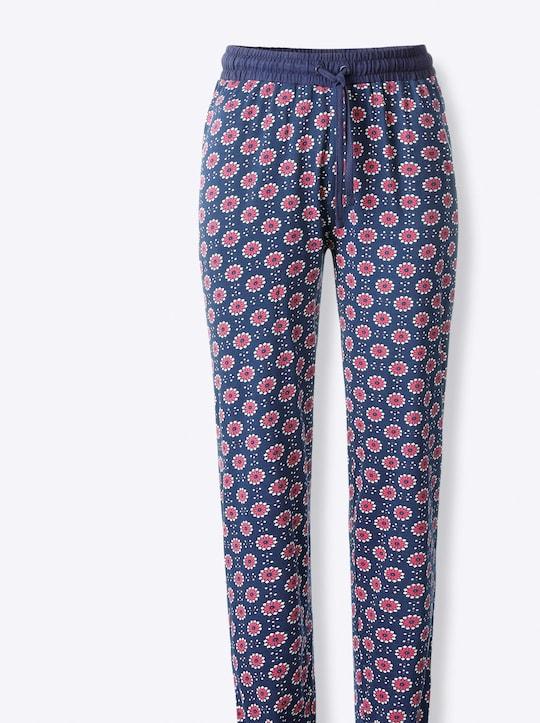 wäschepur Schlafanzug-Hose - marine-bedruckt