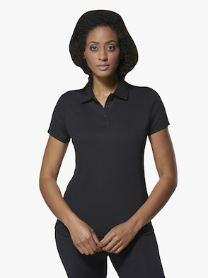 Damen-Poloshirt - schwarz