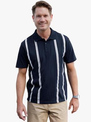 Poloshirt - marine gestreept
