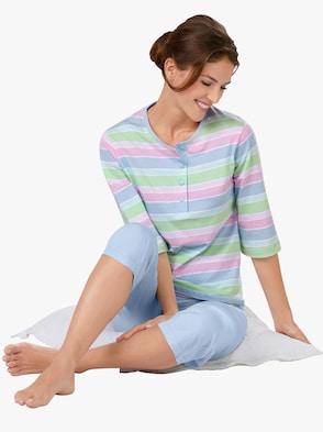 Schlafanzug - bleu-gestreift